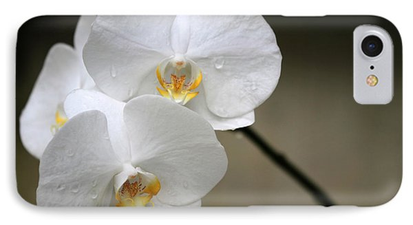 Wet White Orchids IPhone Case