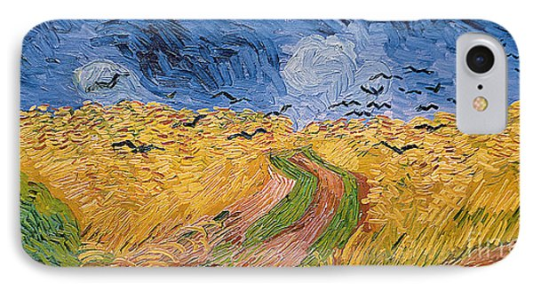 Rural Scenes iPhone 8 Case - Wheatfield With Crows by Vincent van Gogh