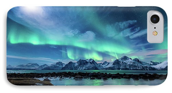 Mountain iPhone 8 Case - When The Moon Shines by Tor-Ivar Naess