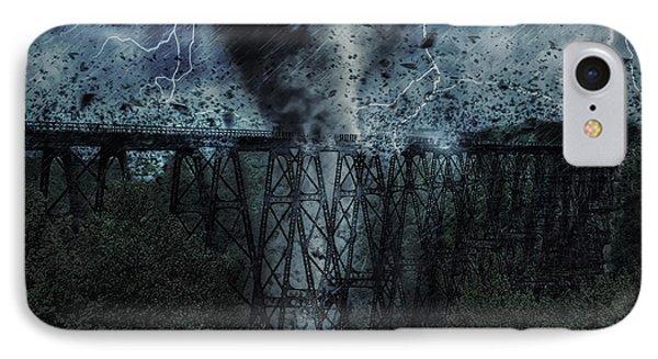 When The Tornado Hit The Bridge IPhone Case
