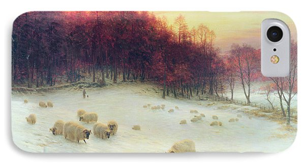 Sheep iPhone 8 Case - When The West With Evening Glows by Joseph Farquharson
