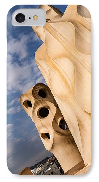 Whimsical Chimneys - Antoni Gaudi Casa Mila In Barcelona Spain IPhone Case