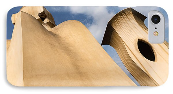 Whimsical Chimneys - Antoni Gaudi Smooth Shapes And Willowy Curves - Left IPhone Case