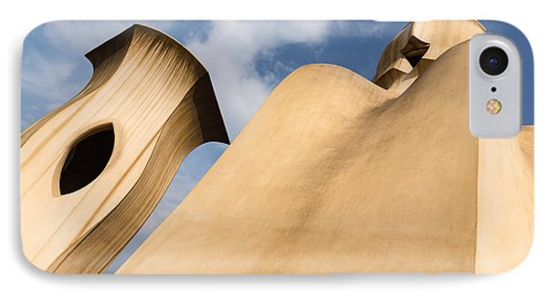 Whimsical Chimneys - Antoni Gaudi Smooth Shapes And Willowy Curves - Right IPhone Case