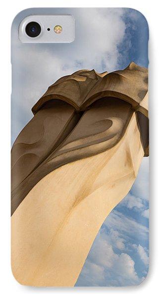 Whimsical Chimneys - Antoni Gaudi Svelte Pair At Casa Mila IPhone Case