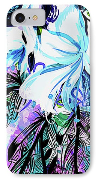 Whimsy In Blue IPhone Case
