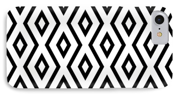 Shapes iPhone 8 Case - White And Black Pattern by Christina Rollo