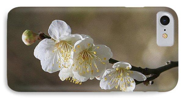 White Cherry Flower IPhone Case