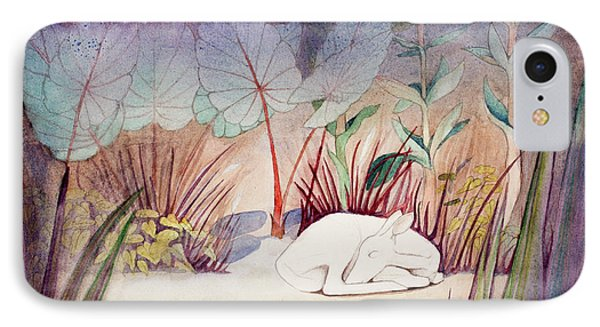 White Doe Dreaming IPhone Case