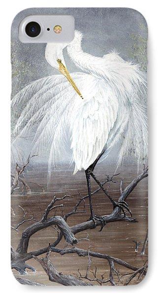 White Egret IPhone Case