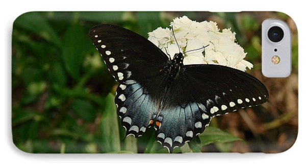 White Flowered Butterfly IPhone Case