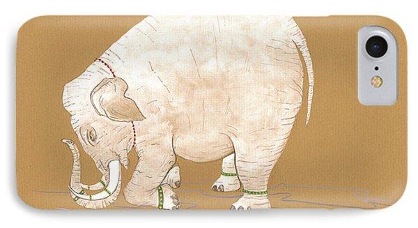 White Indian Elephant IPhone Case