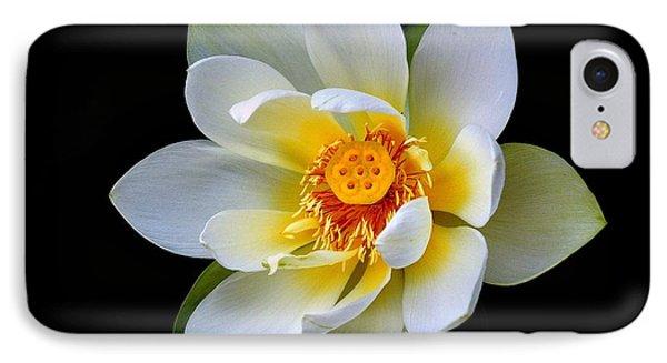 White Lotus Flower IPhone Case