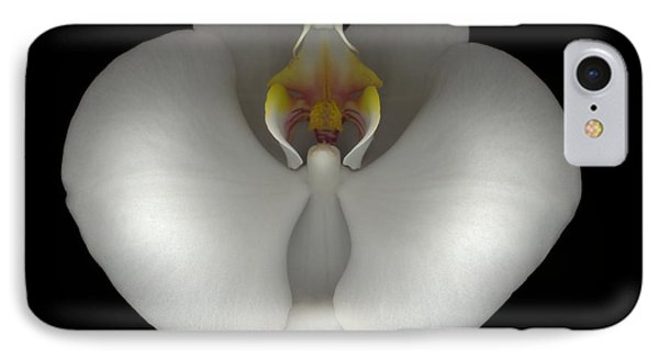 White Orchid On Black IPhone Case