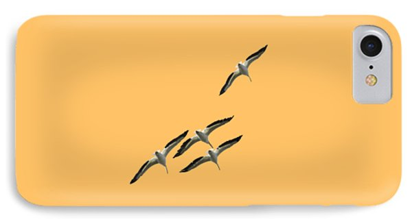 White Pelicans Transparency IPhone Case