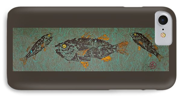White  Perch With Yellow Perch IPhone Case