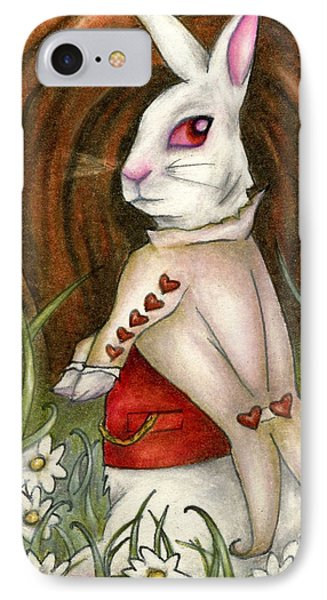 White Rabbit On Way To Wonderland IPhone Case