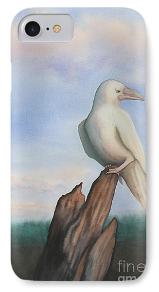 White Raven IPhone Case