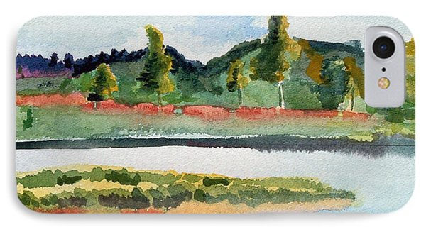 White River At Royalton After Edward Hopper IPhone Case