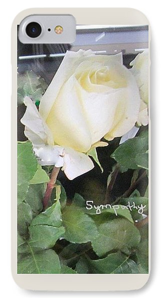White Rose - Sympathy Card IPhone Case