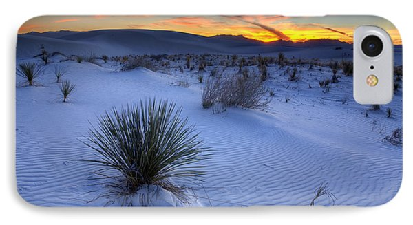 Desert iPhone 8 Case - White Sands Sunset by Peter Tellone