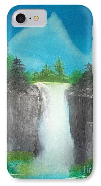 White Waterfall IPhone Case