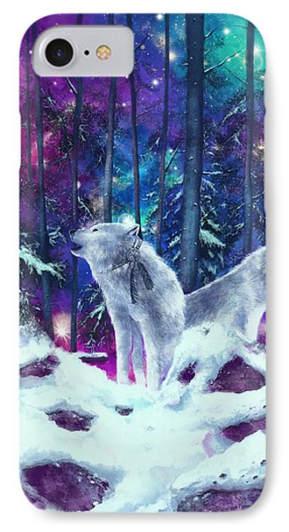 White Wolves IPhone Case