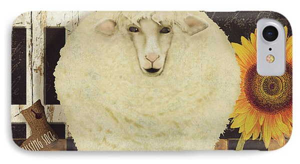 Sheep iPhone 8 Case - White Wool Farms by Mindy Sommers