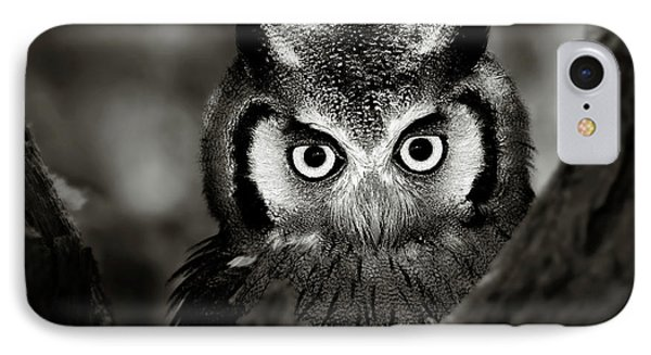Africa iPhone 8 Case - Whitefaced Owl by Johan Swanepoel