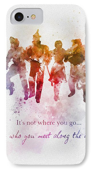 Wizard iPhone 8 Case - Who You Meet Along The Way by Rebecca Jenkins