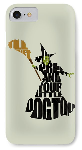 Wizard iPhone 8 Case - Wicked Witch Of The West by Inspirowl Design
