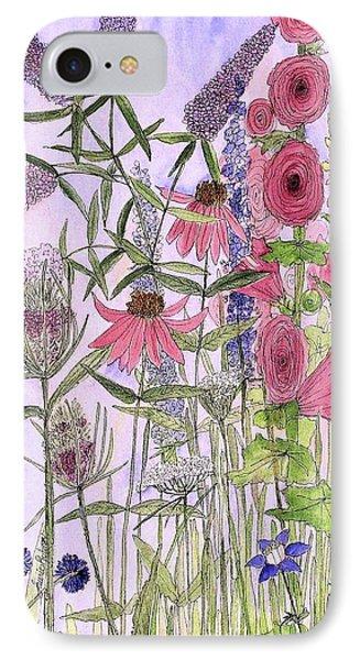 Wild Garden Flowers IPhone Case