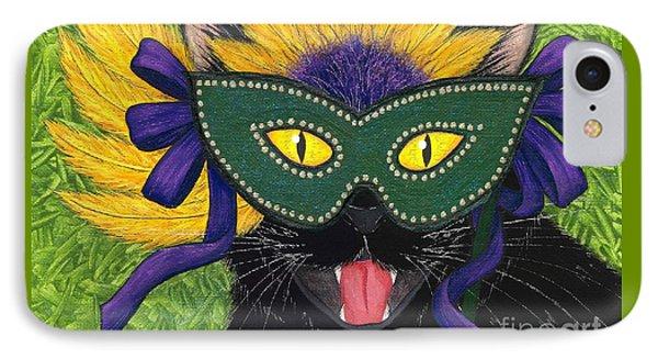 Wild Mardi Gras Cat IPhone Case