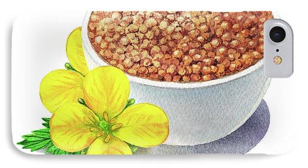 Mustard iPhone 8 Case - Wild Mustard Seeds And Flowers by Irina Sztukowski