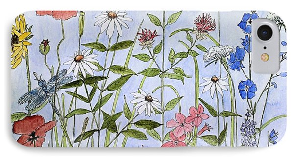 Wildflower And Blue Sky IPhone Case