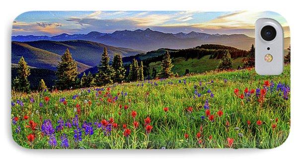 Wildflower Sunset Hill IPhone Case