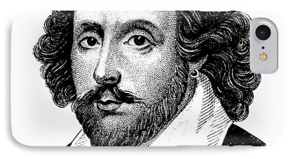 William Shakespeare - The Bard - Black And White IPhone Case