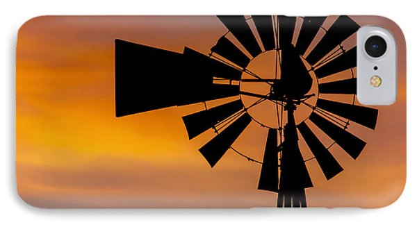 Windmill And Clouds IPhone Case