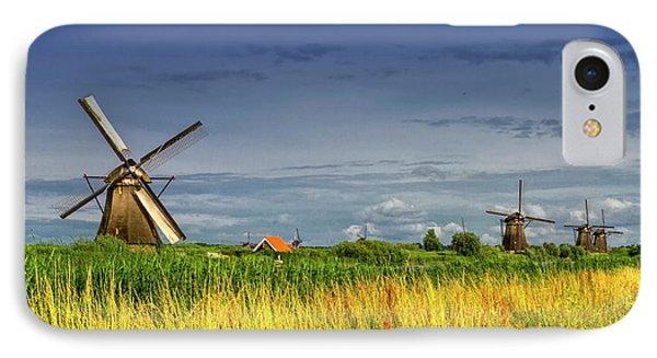 Windmills In Kinderdijk, Holland, Netherlands IPhone Case