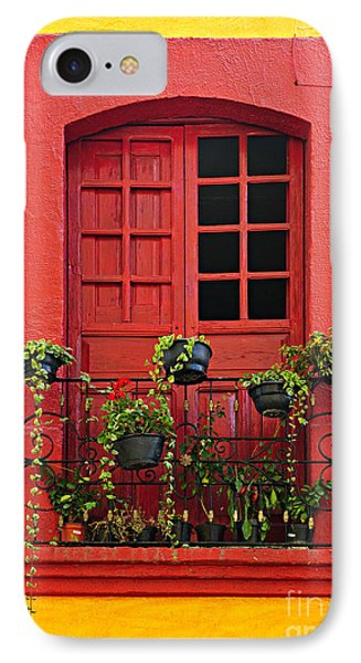 Window On Mexican House IPhone Case