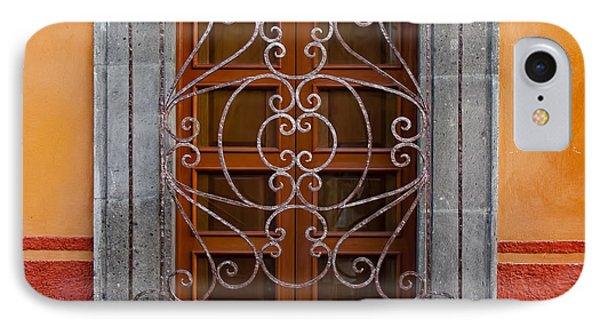 Window On Orange Wall San Miguel De Allende IPhone Case