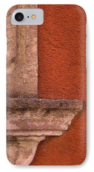 Windowsill And Orange Wall San Miguel De Allende IPhone Case