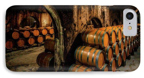 Wine Barrels At Stone Hill Winery_7r2_dsc0318_16-08-18 IPhone Case