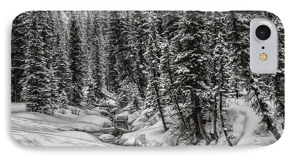 Winter Alpine Creek II IPhone Case