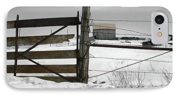Winter Fence Farm IPhone Case