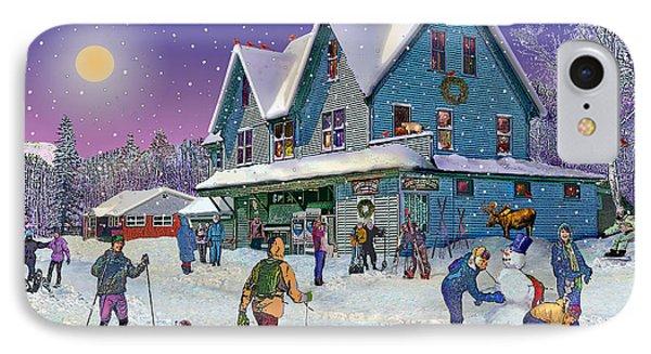 Winter In Campton Village IPhone Case