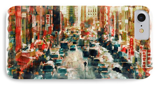 Winter In Chinatown - New York IPhone Case