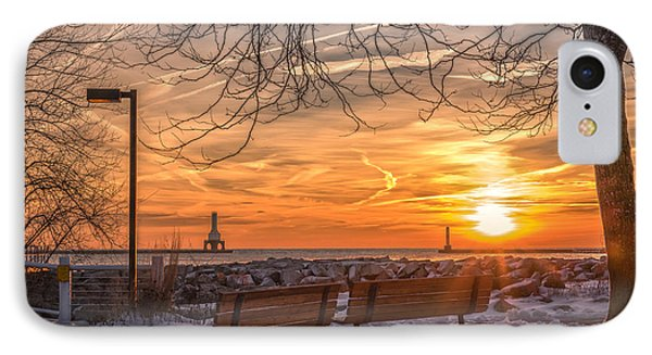 Winter Sunrise In The Park IPhone Case