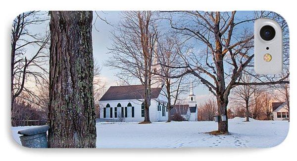 Winter Sunset In New Salem IPhone Case