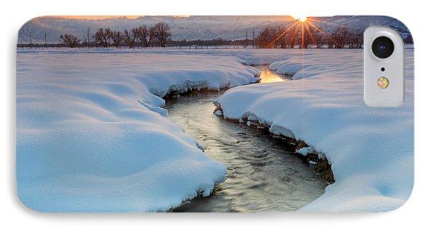 Winter Sunset In Rural Utah. IPhone Case